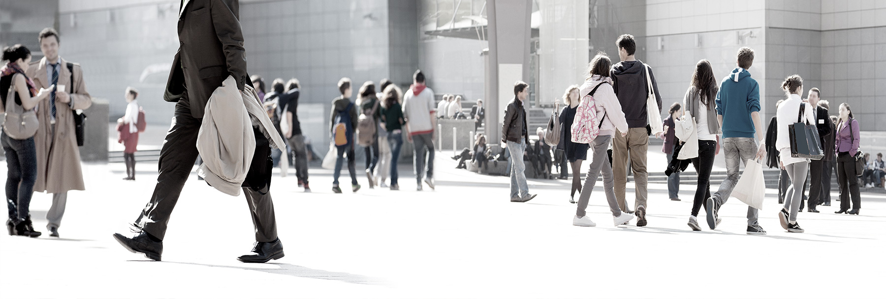 people walking background