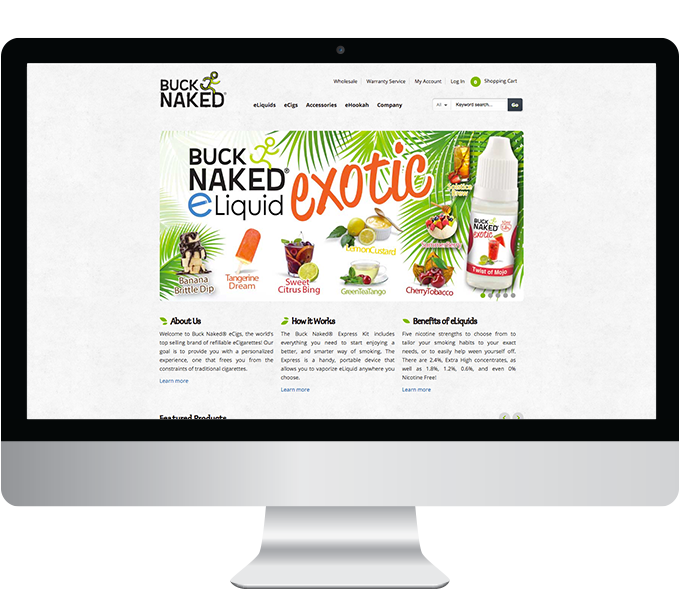 Buck Naked website