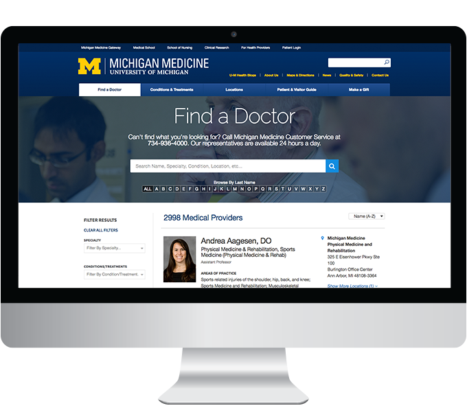 Michigan Medicine web Find a doctor